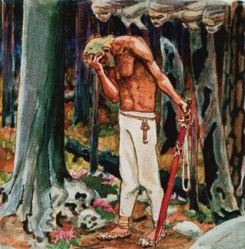 Remorseful Kullervo | Akseli Gallen Kallela | oil painting