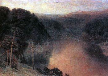 Mountain Lake Ural 1892   Apollinaris M Vasnetsov   oil painting