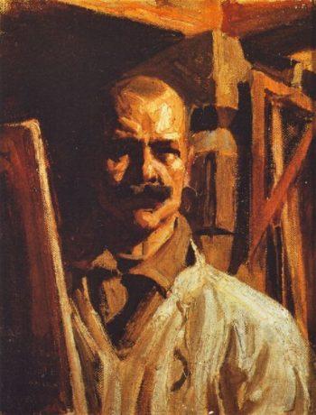 Self portrait for the Uffizi Gallery | Akseli Gallen Kallela | oil painting