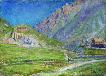 Mountain landscape 1895   Apollinaris M Vasnetsov   oil painting