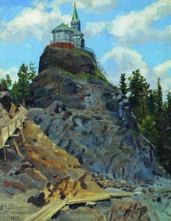 Mount Grace 1890   Apollinaris M Vasnetsov   oil painting