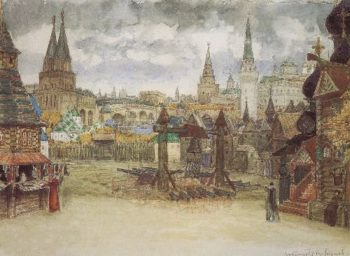 Musketeers District 1897   Apollinaris M Vasnetsov   oil painting