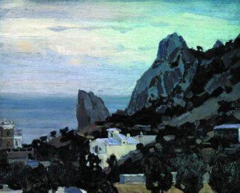 New Simeiz Twilight 1906   Apollinaris M Vasnetsov   oil painting