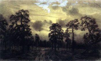 Night Ural   Apollinaris M Vasnetsov   oil painting