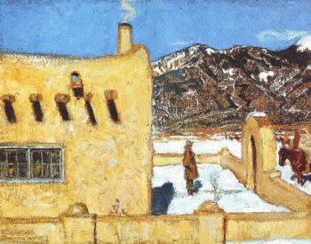 The Artists Home At Taos | Akseli Gallen Kallela | oil painting