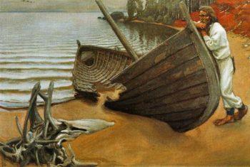 The Boats Lament | Akseli Gallen Kallela | oil painting
