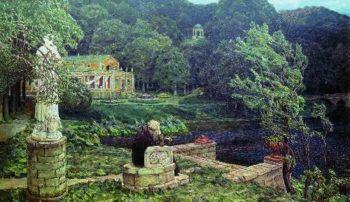 Noise old park 1926   Apollinaris M Vasnetsov   oil painting