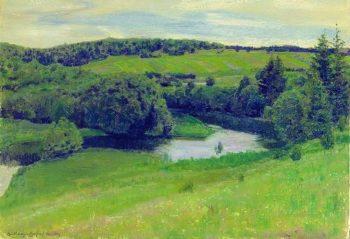 Northern landscape 1902   Apollinaris M Vasnetsov   oil painting