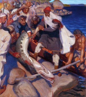 The Great Pike | Akseli Gallen Kallela | oil painting