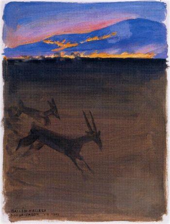 The Plain of Donya Sabuk on Fire | Akseli Gallen Kallela | oil painting