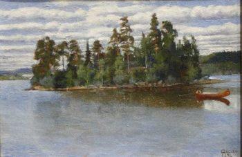Untitled Landscape | Akseli Gallen Kallela | oil painting