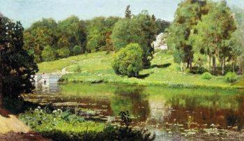 Ohtyrka View estate 1894   Apollinaris M Vasnetsov   oil painting