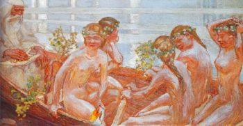 Vainamoinens Boat Journey | Akseli Gallen Kallela | oil painting