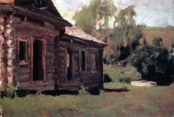 old house   Apollinaris M Vasnetsov   oil painting