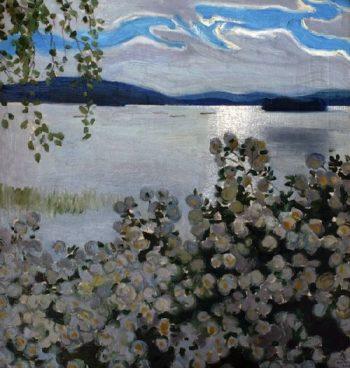 White Roses | Akseli Gallen Kallela | oil painting