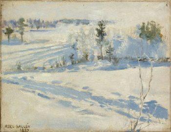 Winter Landscape | Akseli Gallen Kallela | oil painting