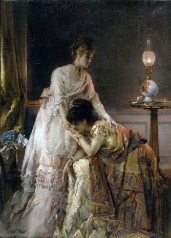 After the Ball | Alfred Stevens | oil painting