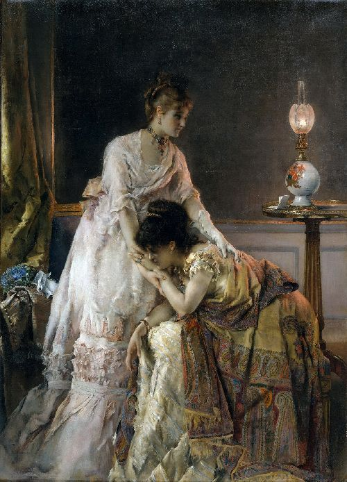 After the Ball   Alfred Stevens   oil painting