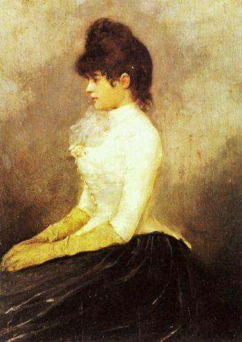 The Baroness von Munchhausen | Alfred Stevens | oil painting