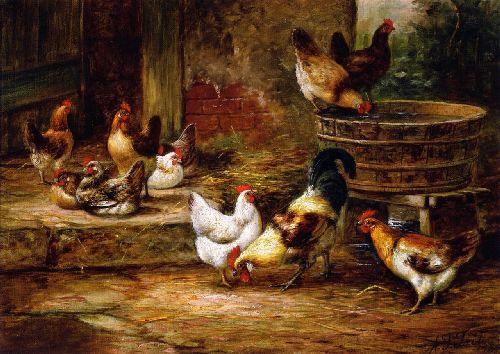 Barnyard Fowl | Arthur Fitzwilliam Tait | oil painting