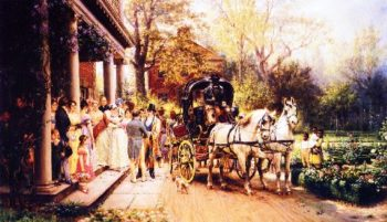 A Virginia Wedding | Edward Lamson Henry | oil painting