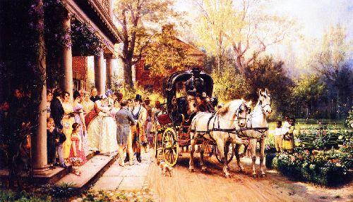 A Virginia Wedding | Edward Lamson Henry | oil painting