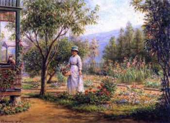 Gathering Flowers | Edward Lamson Henry | oil painting