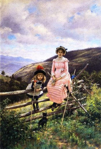 Little Miss and Sister | Edward Lamson Henry | oil painting