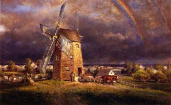 Old Hook Mill East Hampton | Edward Lamson Henry | oil painting