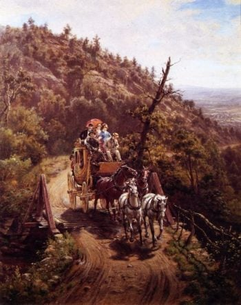 Stagecoach | Edward Lamson Henry | oil painting