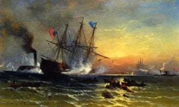 The Sinking of the Cumberland | Edward Moran | oil painting