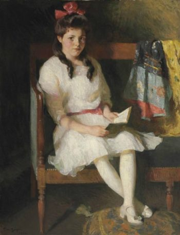 Portrait of Gertrude Russell | Frank W Benson | oil painting