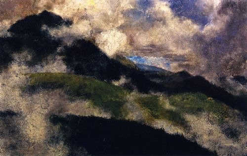 Alpine Landscape with Rising Fog | Franz Marc | oil painting