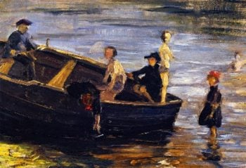 Children on a Boat | Franz Marc | oil painting