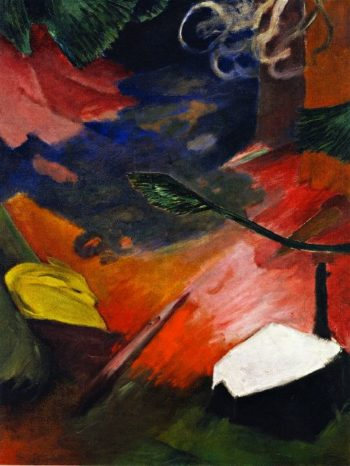 Deer in Forest I | Franz Marc | oil painting