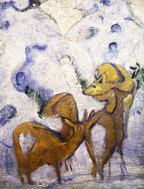Deer in the Snow I | Franz Marc | oil painting