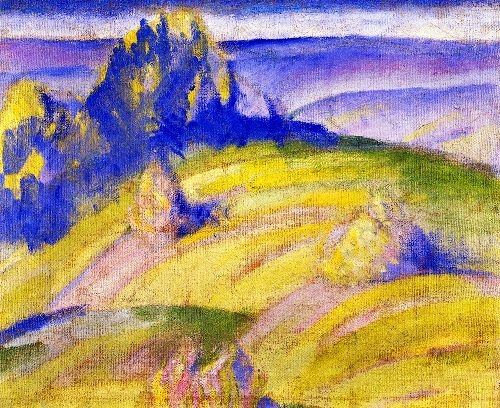 Foothills of the Alps | Franz Marc | oil painting