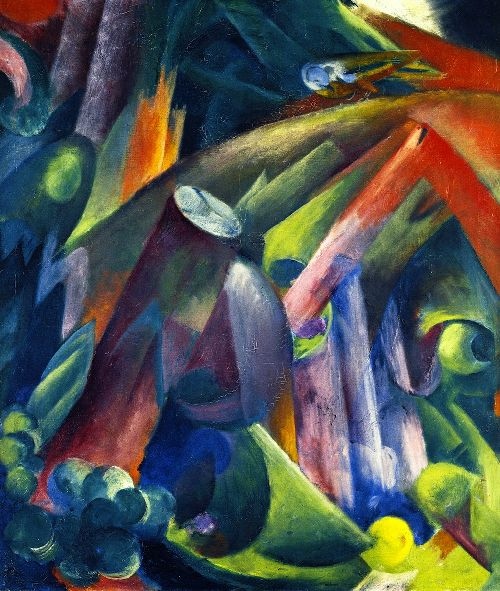 Forest Interior with Bird | Franz Marc | oil painting