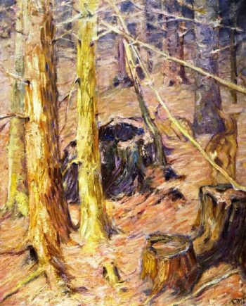 Forest Interior with Deer | Franz Marc | oil painting