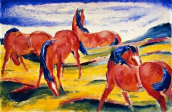 Grazing Horses II | Franz Marc | oil painting