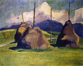 Haystacks | Franz Marc | oil painting