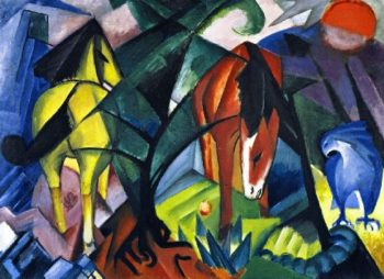 Horses and Eagle | Franz Marc | oil painting