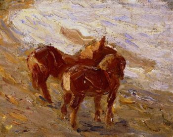 Horses by the Sea | Franz Marc | oil painting