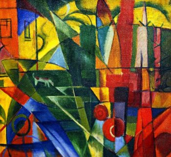 Landscape with House and Two Cows | Franz Marc | oil painting