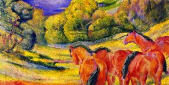 Large Landscape I | Franz Marc | oil painting
