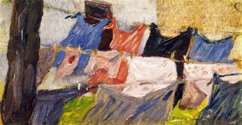 Laundry Fluttering in the Wind | Franz Marc | oil painting