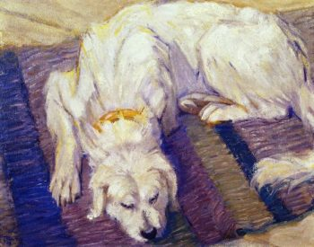 Lying Dog | Franz Marc | oil painting