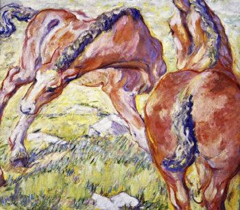 Mare with a Foal | Franz Marc | oil painting