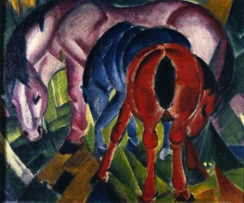 Mare with Foals | Franz Marc | oil painting