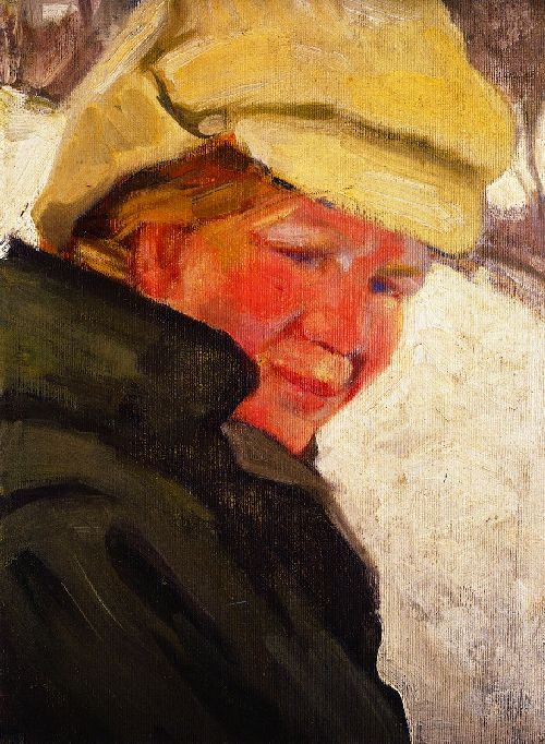 Maria Franck in a White Cap   Franz Marc   oil painting